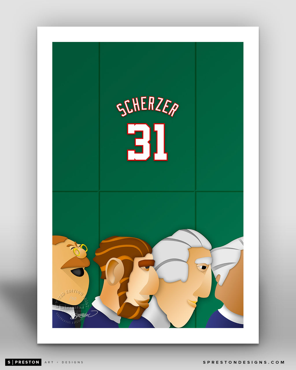 Minimalist Nationals Park - Player Series - Max Scherzer - Washington Nationals - S. Preston