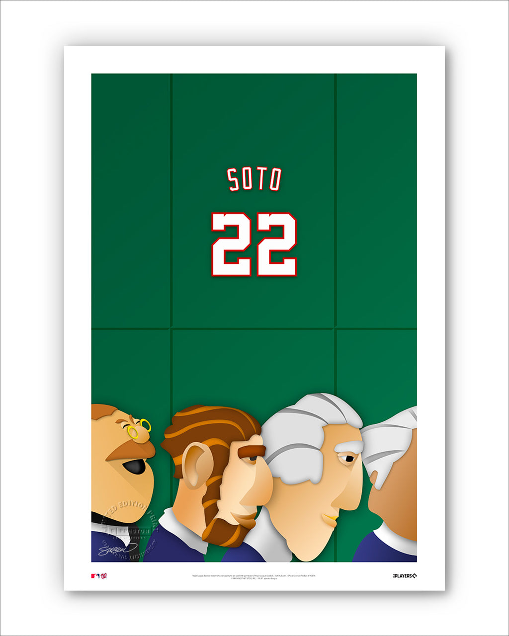 Minimalist Nationals Park - Player Series - Juan Soto
