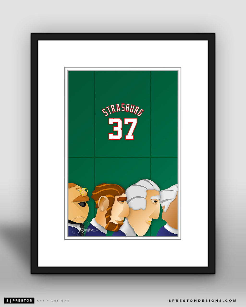 Minimalist Nationals Park - Player Series - Stephen Strasburg - Washington Nationals - S. Preston