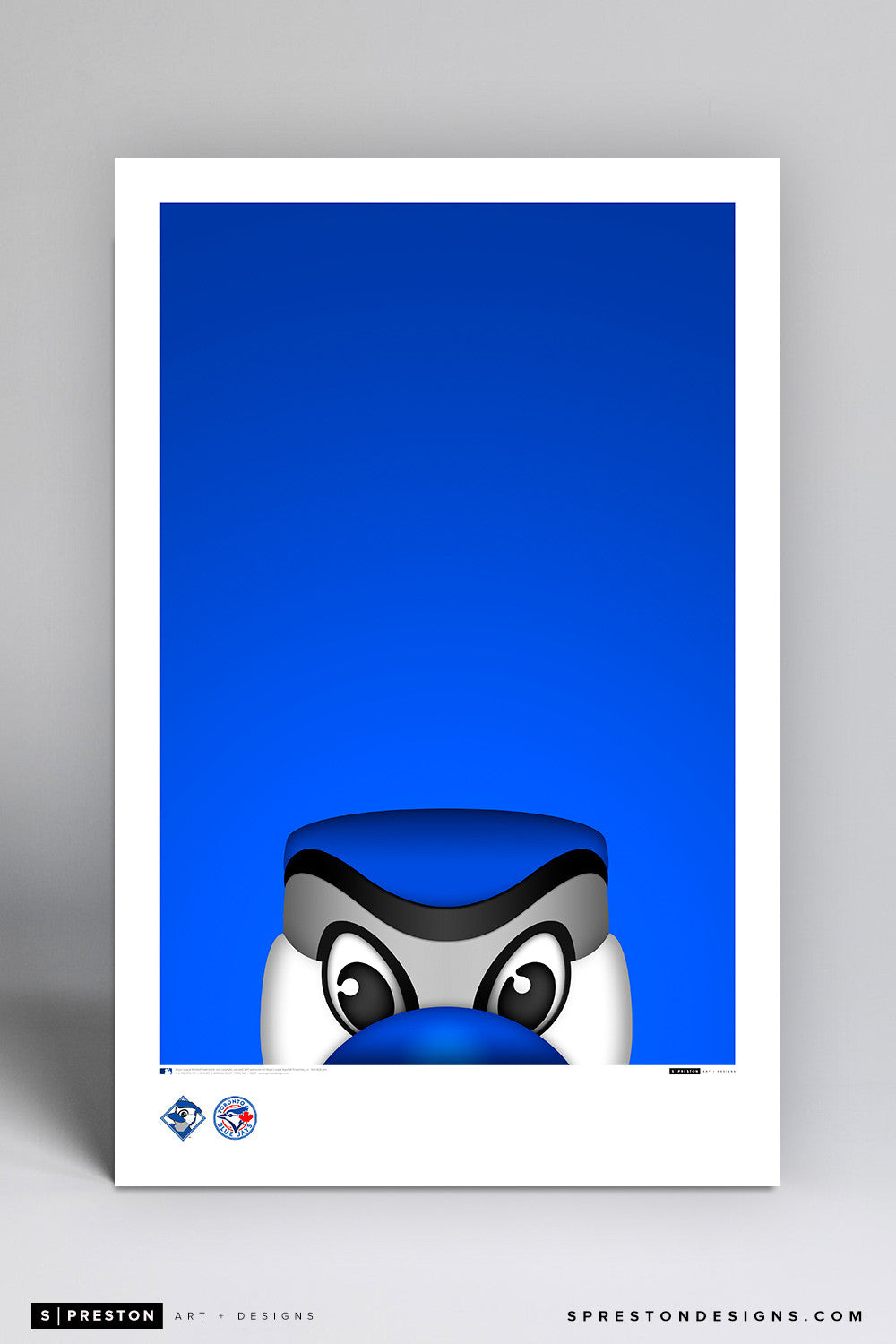Minimalist Ace Art Poster Art Poster - Toronto Blue Jays - S. Preston Art + Designs