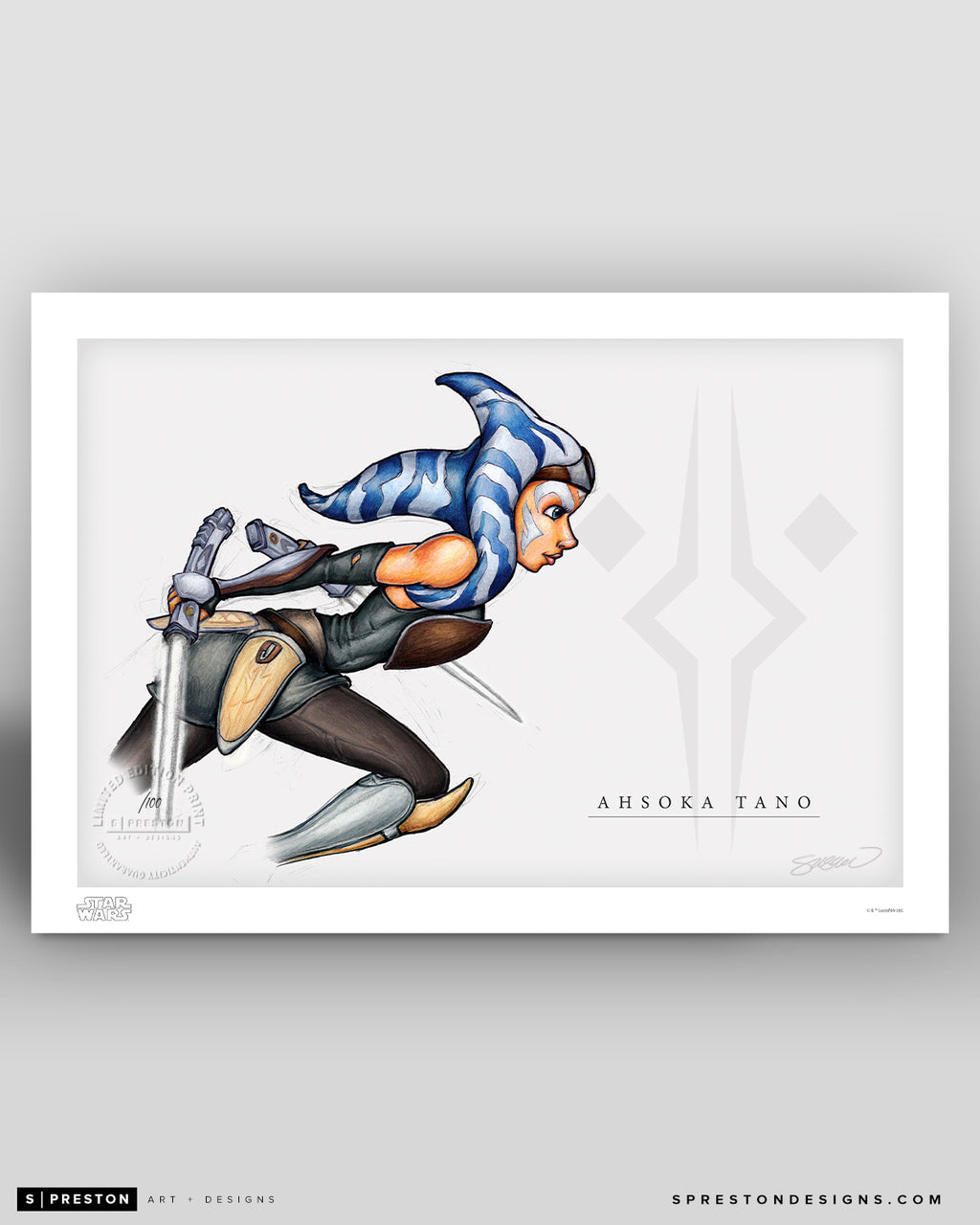 Revenge at Malachor (Ahsoka Tano) Sketch Art Print