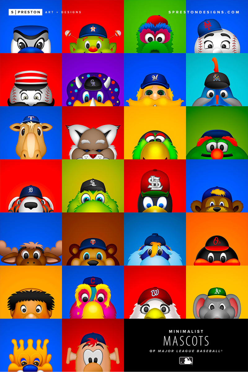 ALL Minimalist MLB Mascots Value Canvas