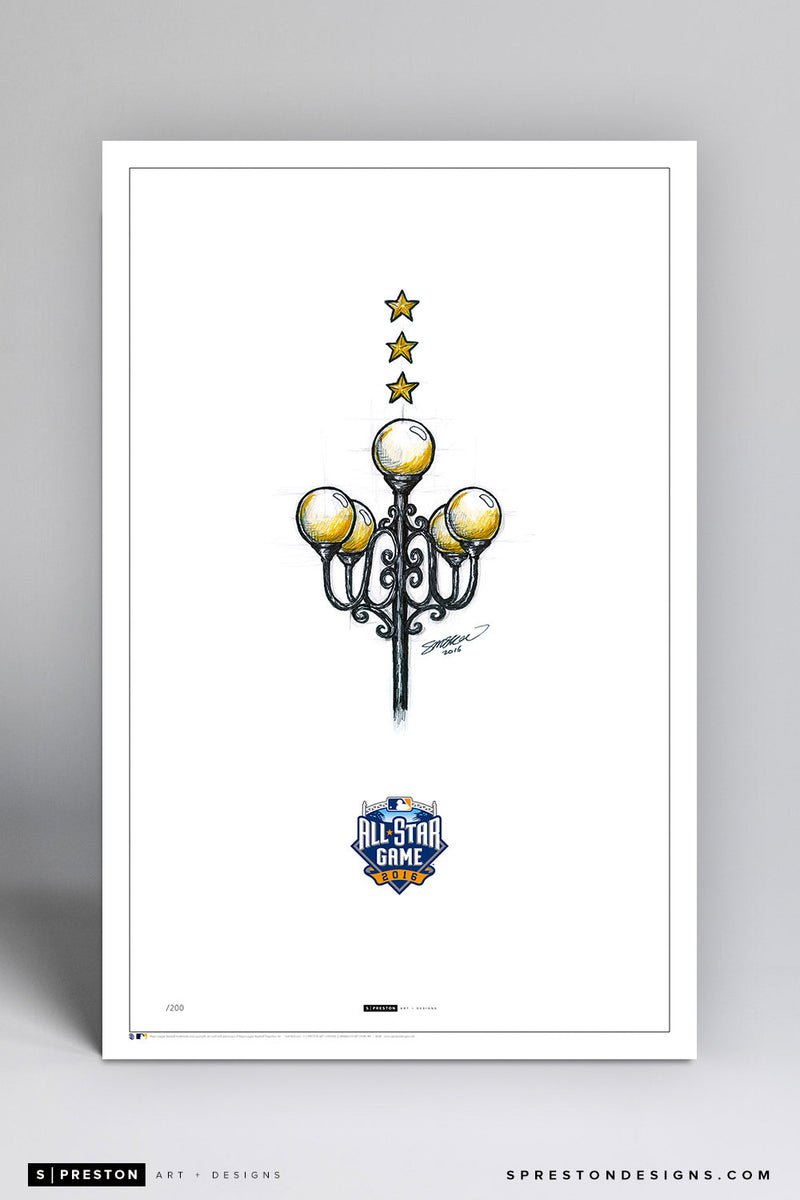 Minimalist 2016 All Star Game Illustration Limited Edition - San Diego Padres - S. Preston Art + Designs
