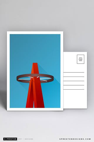 Minimalist Angel Stadium Postcard