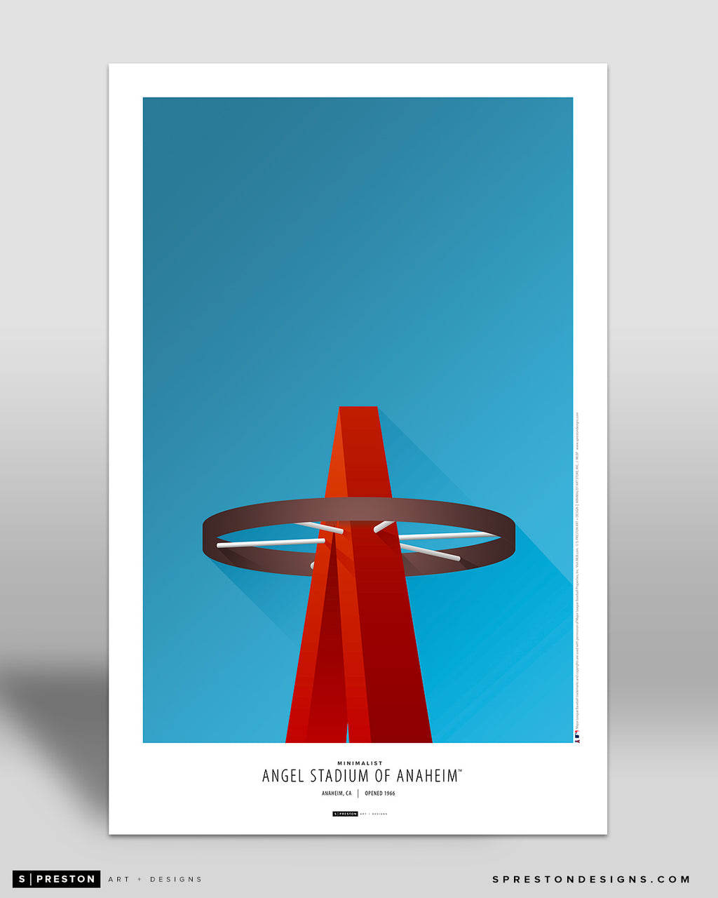 Minimalist Angel Stadium Art Poster - CLEARANCE