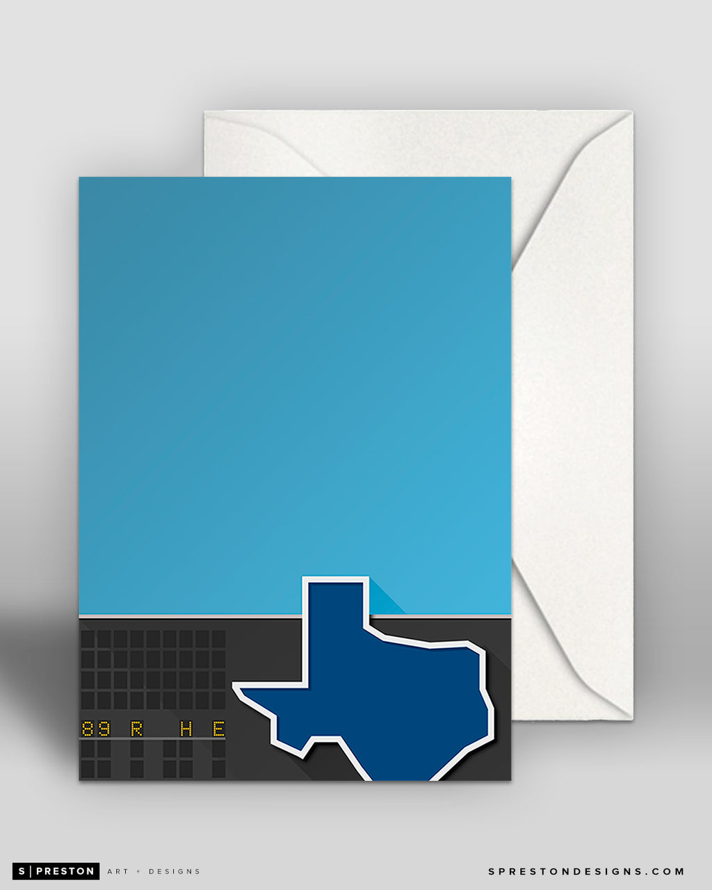 Minimalist Arlington Stadium Note Card CLEARANCE
