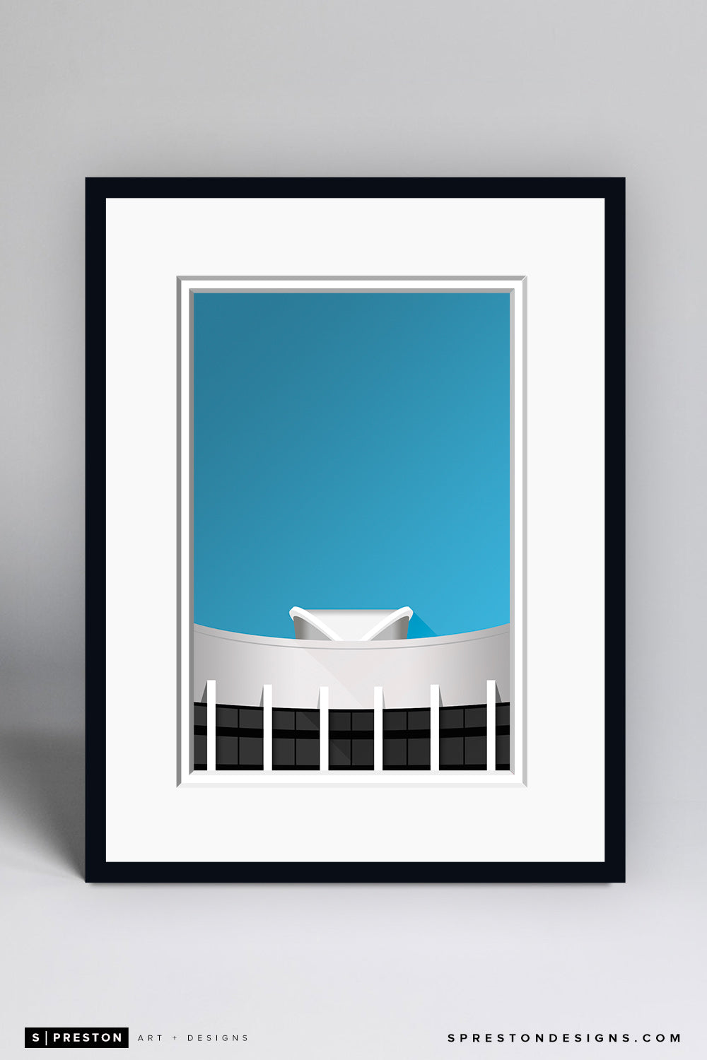 Minimalist Assembly Hall Art Print - Indiana University - S. Preston Art + Designs