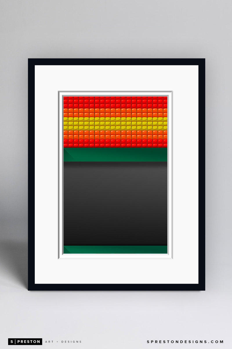 Minimalist Astrodome Art Print - Houston Astros - S. Preston Art + Designs