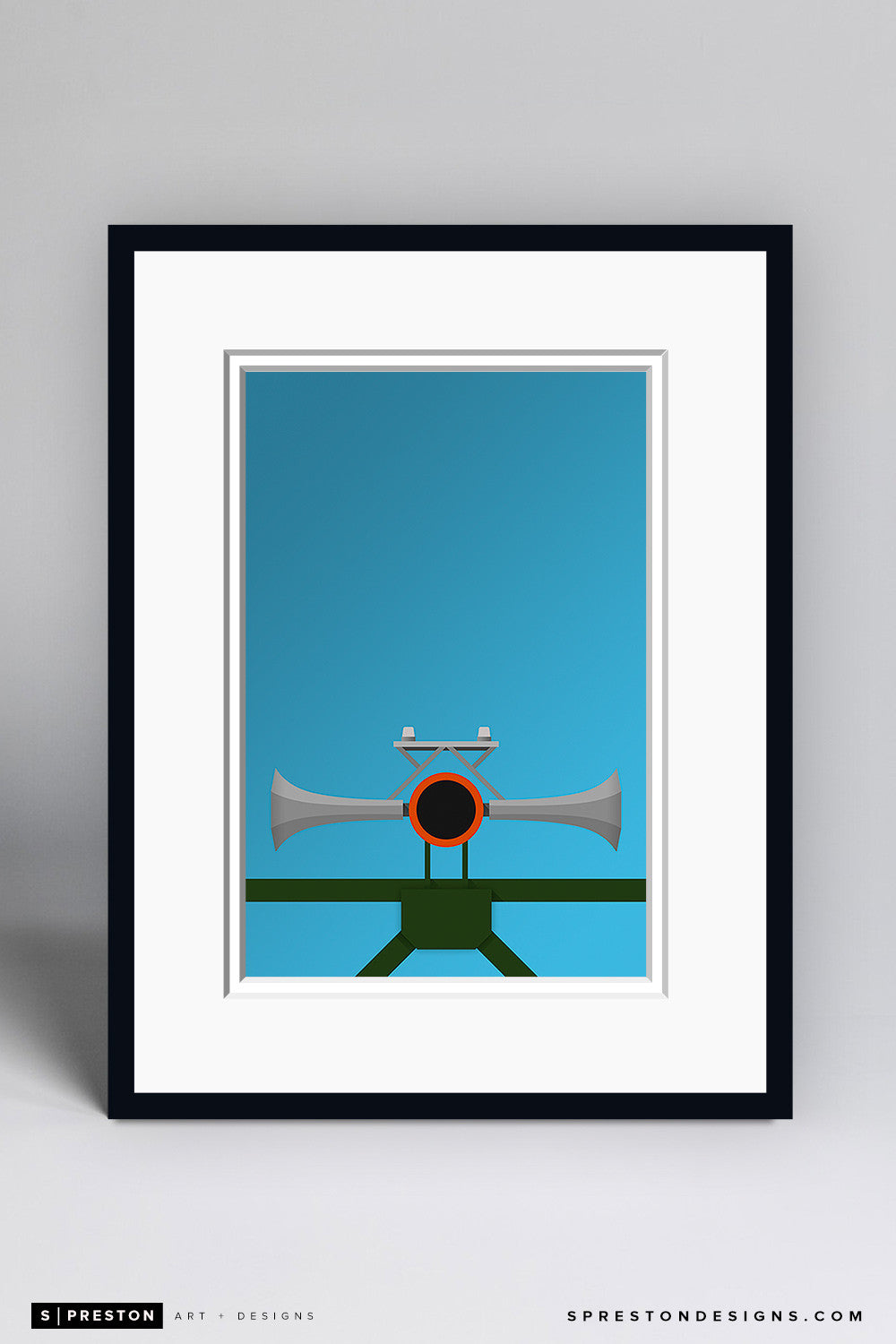 Minimalist AT&T Park Art Print - San Francisco Giants - S. Preston Art + Designs