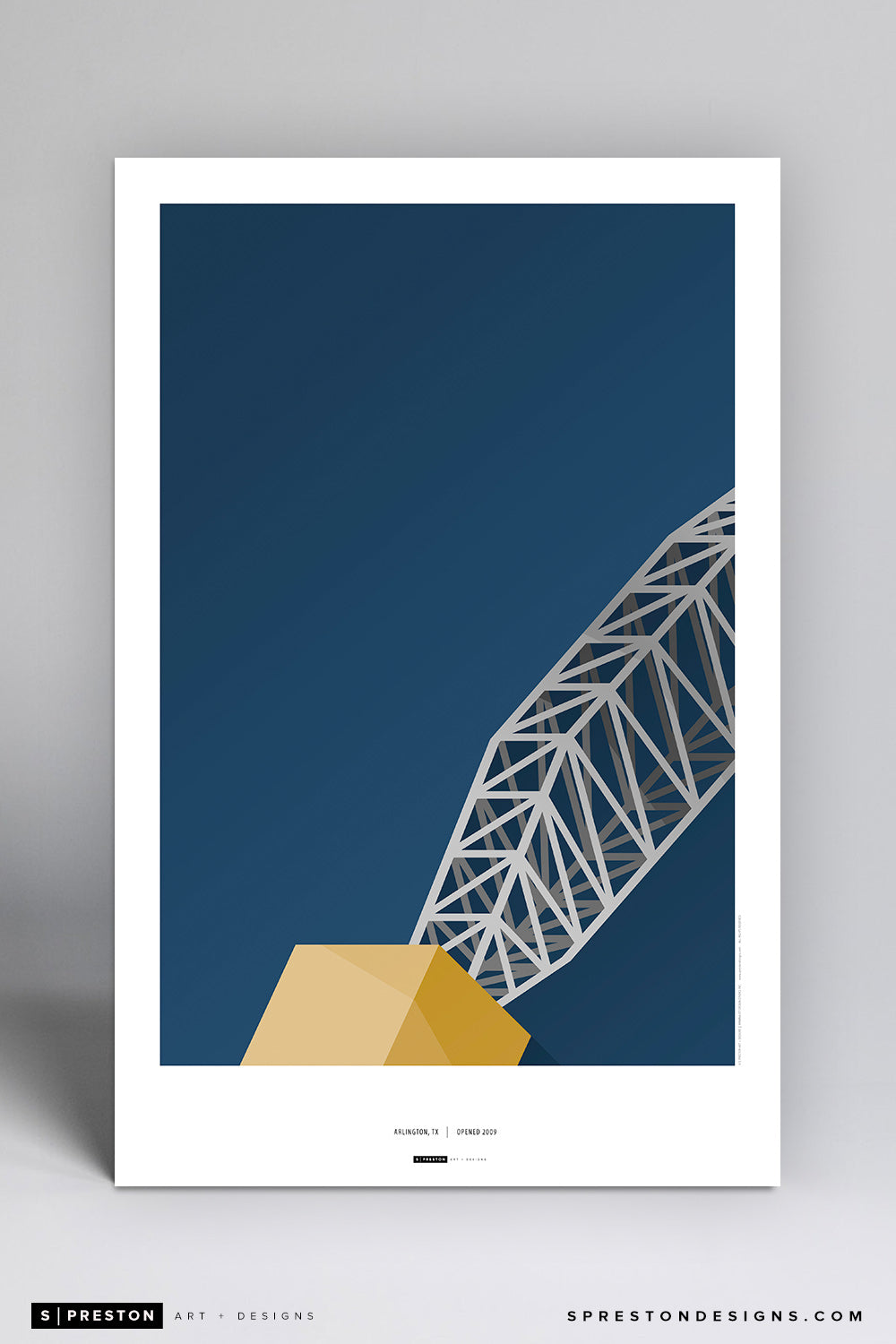 Minimalist AT&T Stadium (anchor) Art Poster Art Poster - Dallas Cowboys - S. Preston Art + Designs