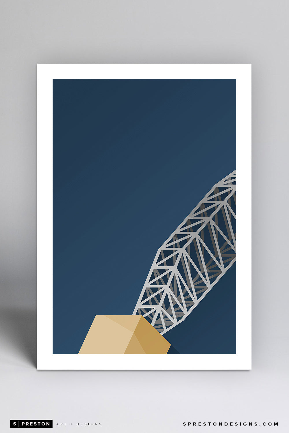 Minimalist AT&T Stadium (anchor) Art Print - Dallas Cowboys - S. Preston Art + Designs