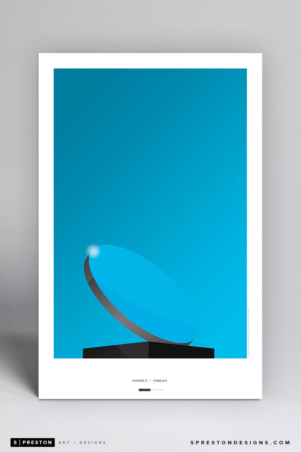 Minimalist AT&T Stadium (Sky Mirror) Art Poster Art Poster - Dallas Cowboys - S. Preston Art + Designs
