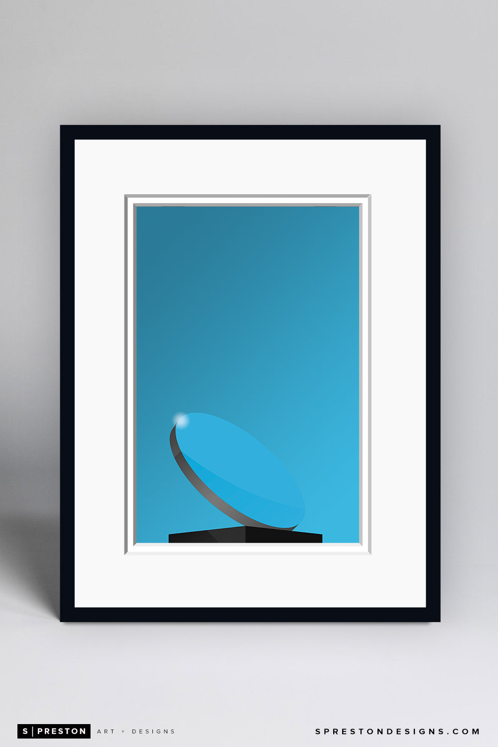 Minimalist AT&T Stadium (sky mirror) Art Print - Dallas Cowboys - S. Preston Art + Designs