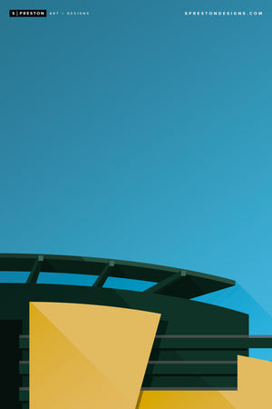 Minimalist Autzen Stadium - University of Oregon - S. Preston
