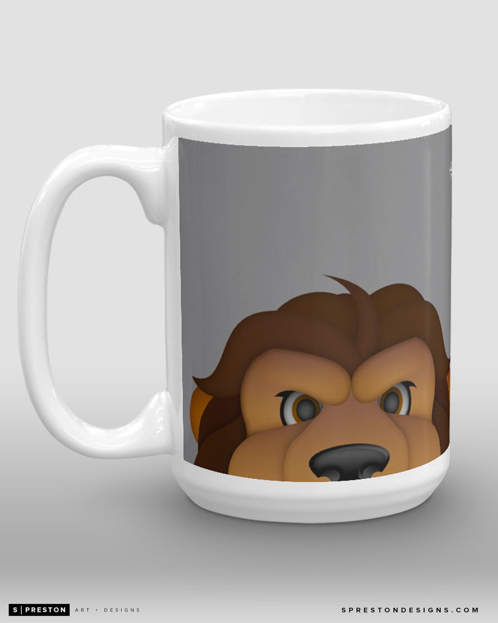 Minimalist Bailey Coffee Mug - NHL Licensed - Los Angeles Kings Mascot