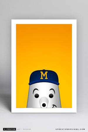 Minimalist Barrelman - Milwaukee Brewers - S. Preston
