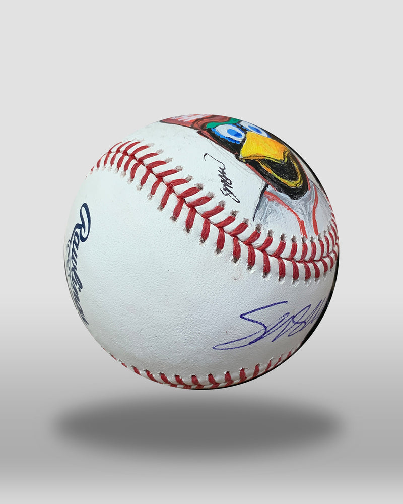 Fredbird Hand-Painted Baseball Art