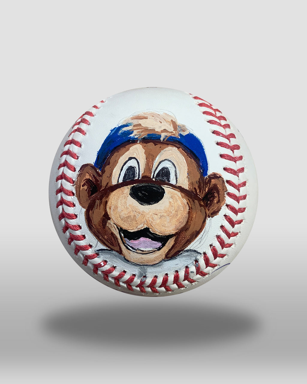 Clark The Cub Hand-Painted Baseball Art