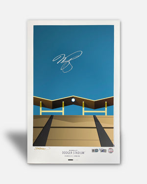 Dodger Stadium - Mike Piazza Autographed - Poster Print - MLB Authenticated