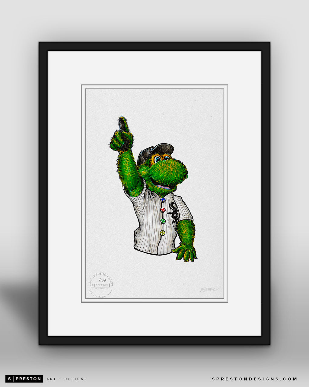 Southpaw - Chicago White Sox Mascot Ink Sketch Print