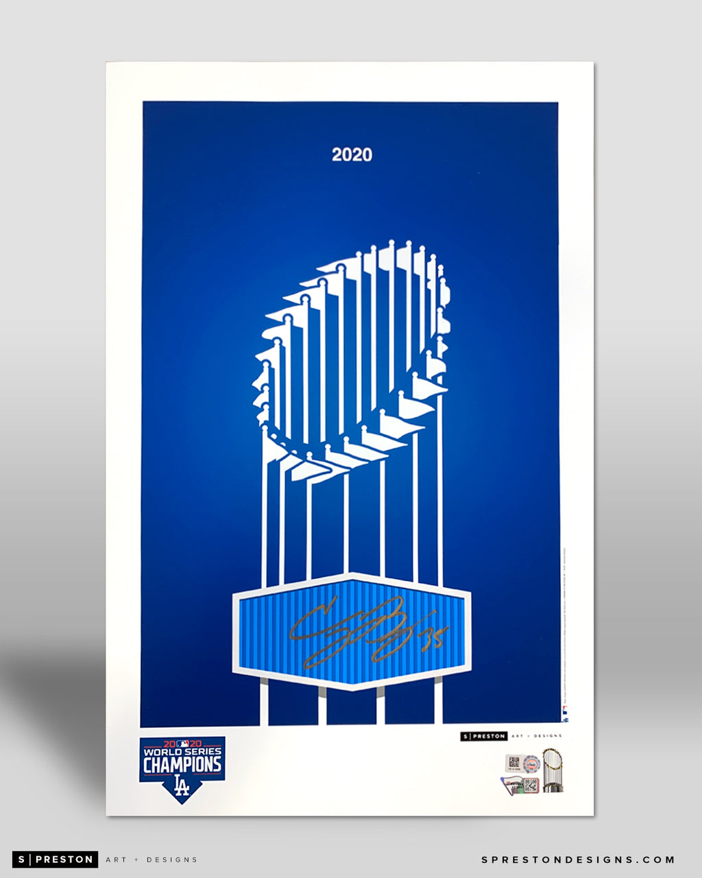 Minimalist World Series 2020 Poster Print - Cody Bellinger Signed