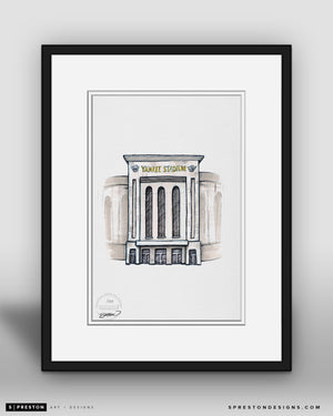 Yankee Stadium - Ink Sketch Collection - New York Yankees