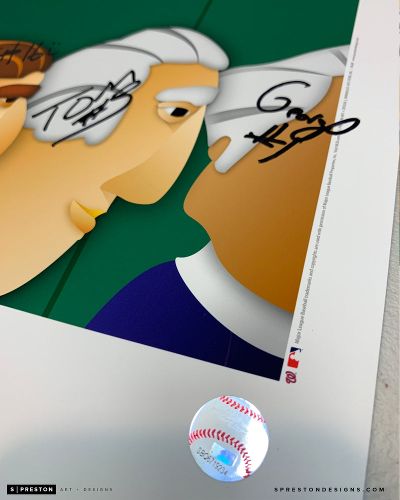 Minimalist Nationals Park - Racing Presidents Signed