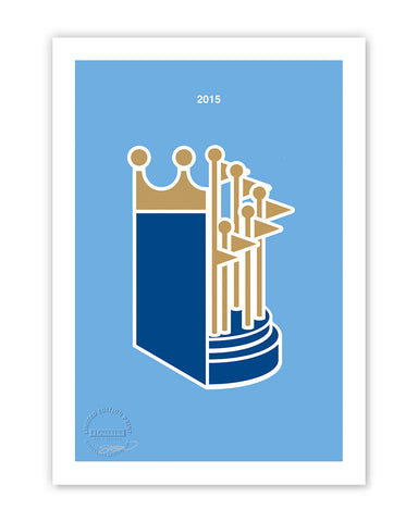 Minimalist World Series 2015 Limited Edition - Kansas City Royals - S. Preston Art + Designs