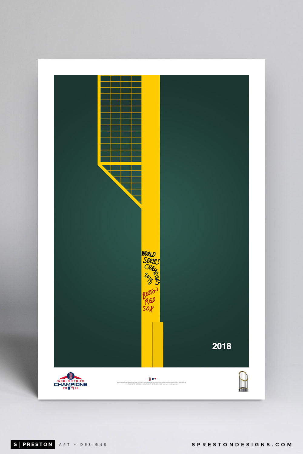 World Series Commemorative Art Print 2018