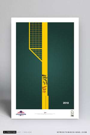 Minimalist World Series 2018 - Boston Red Sox - S. Preston