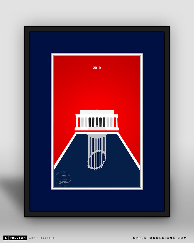 Minimalist World Series 2019 - Washington Nationals - S. Preston