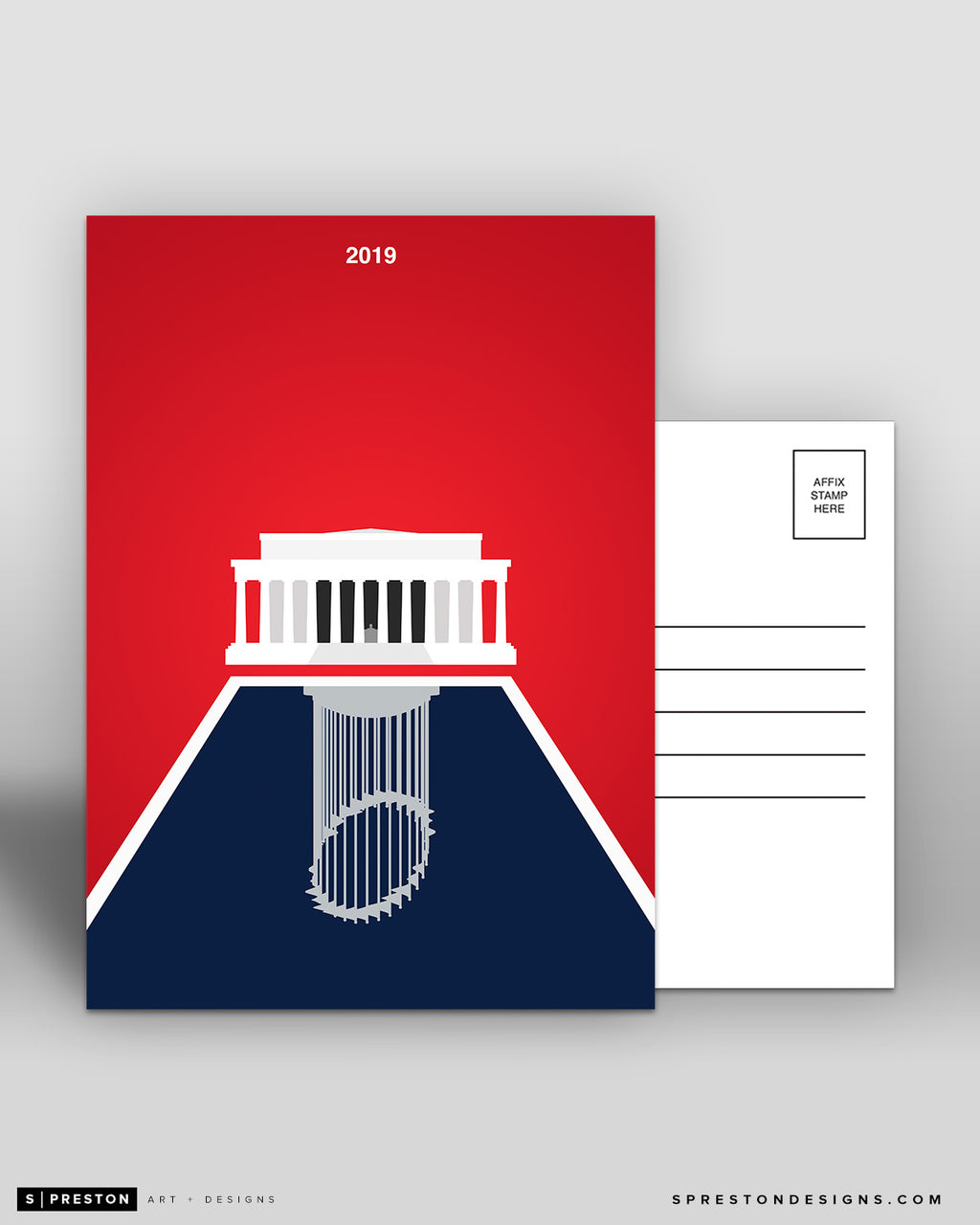 Minimalist World Series 2019 Postcard 5-count Set