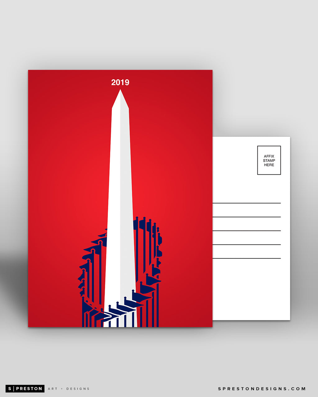 Minimalist World Series 2019 Postcard 5-count Set Washington Nationals