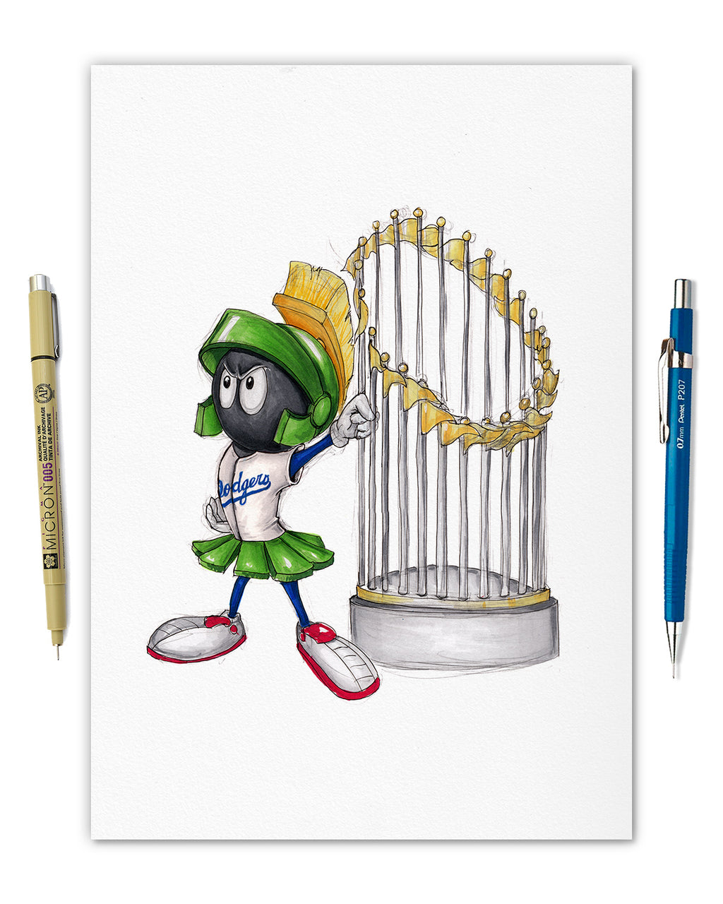 World Series Marvin the Martian - Dodgers Masterworks Original Art