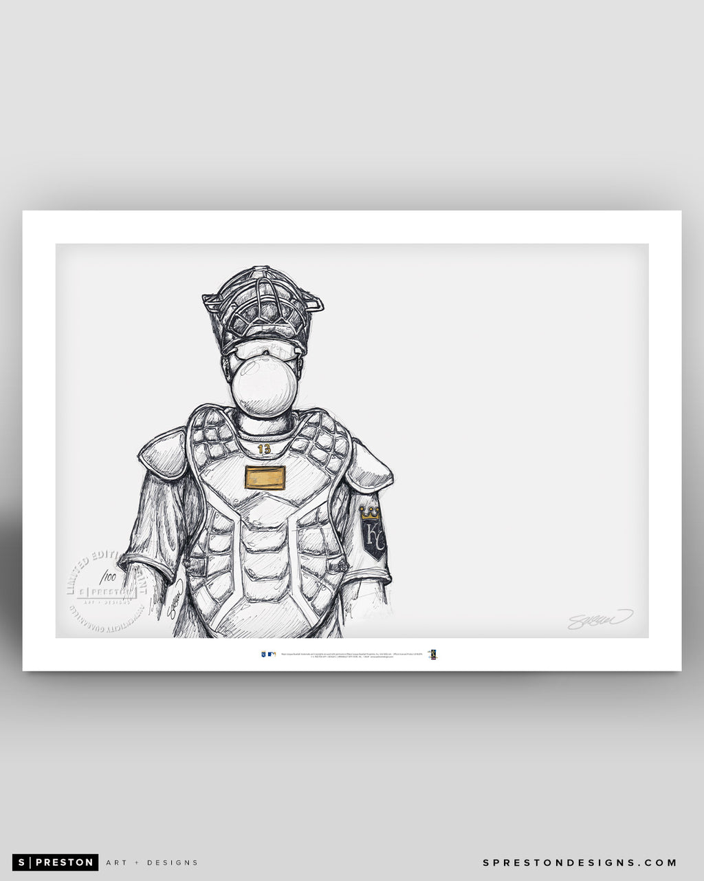 El Niño Chicle - Salvador Perez Sketch Print