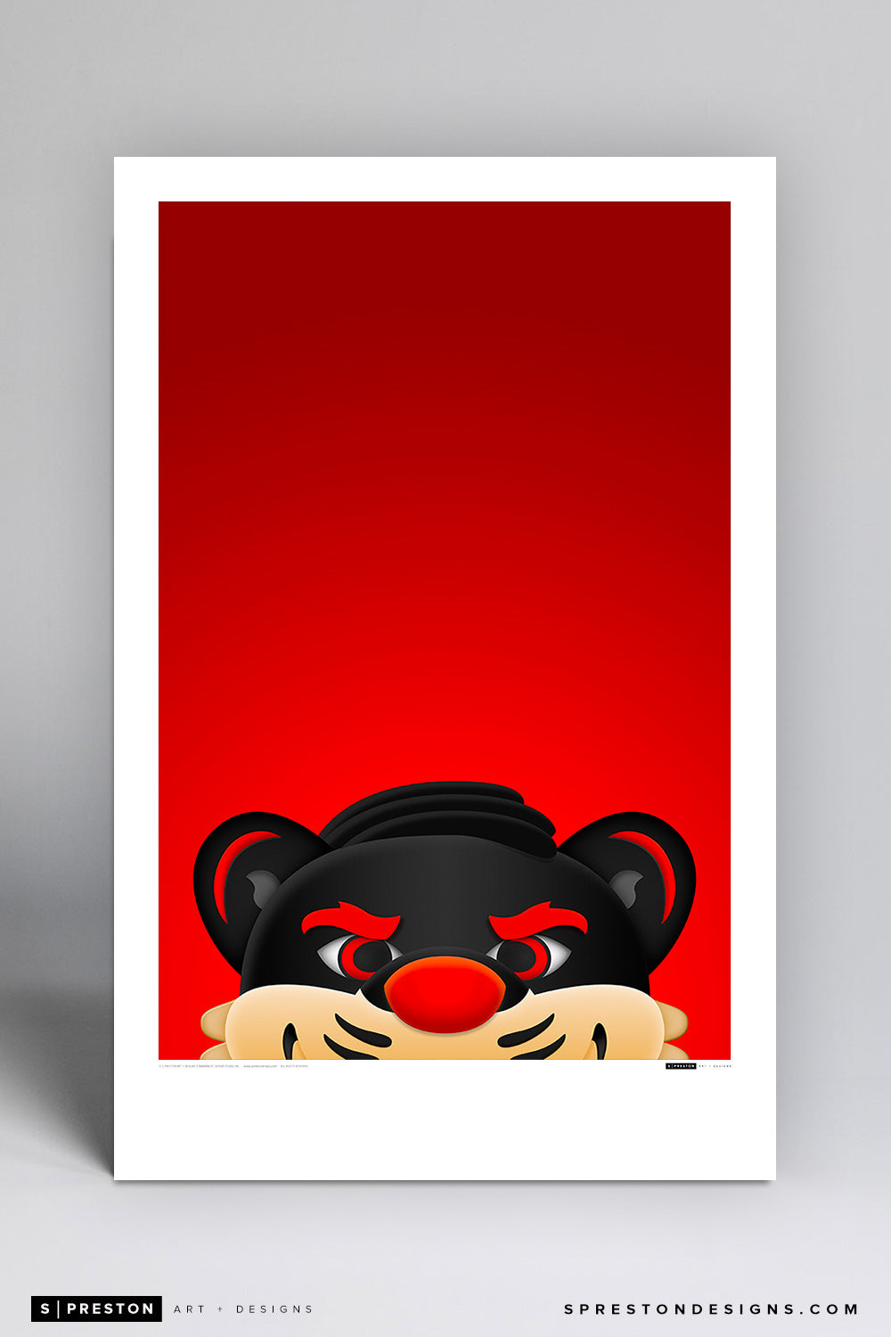 Minimalist Bearcats - University of Cincinnati Art Poster Art Poster - University of Cincinnati - S. Preston Art + Designs