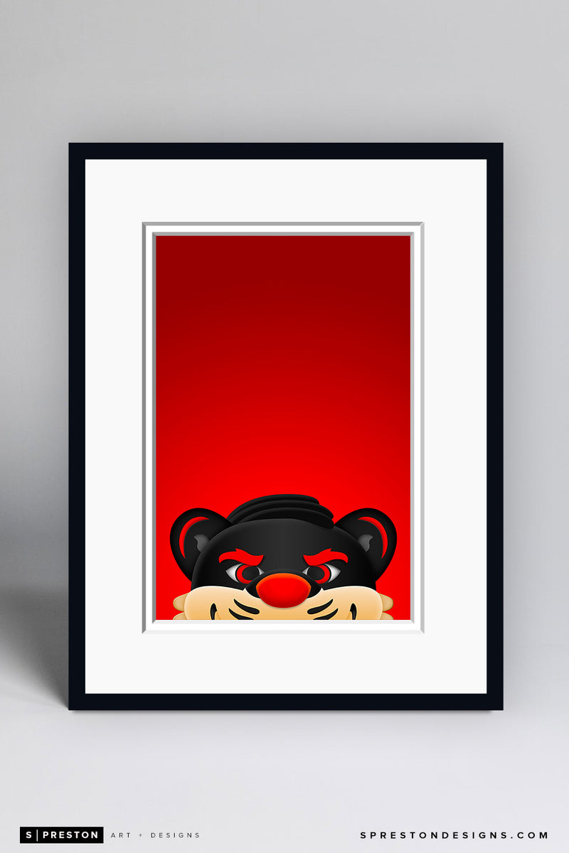 Minimalist Bearcats - University of Cincinnati Art Print - University of Cincinnati - S. Preston Art + Designs
