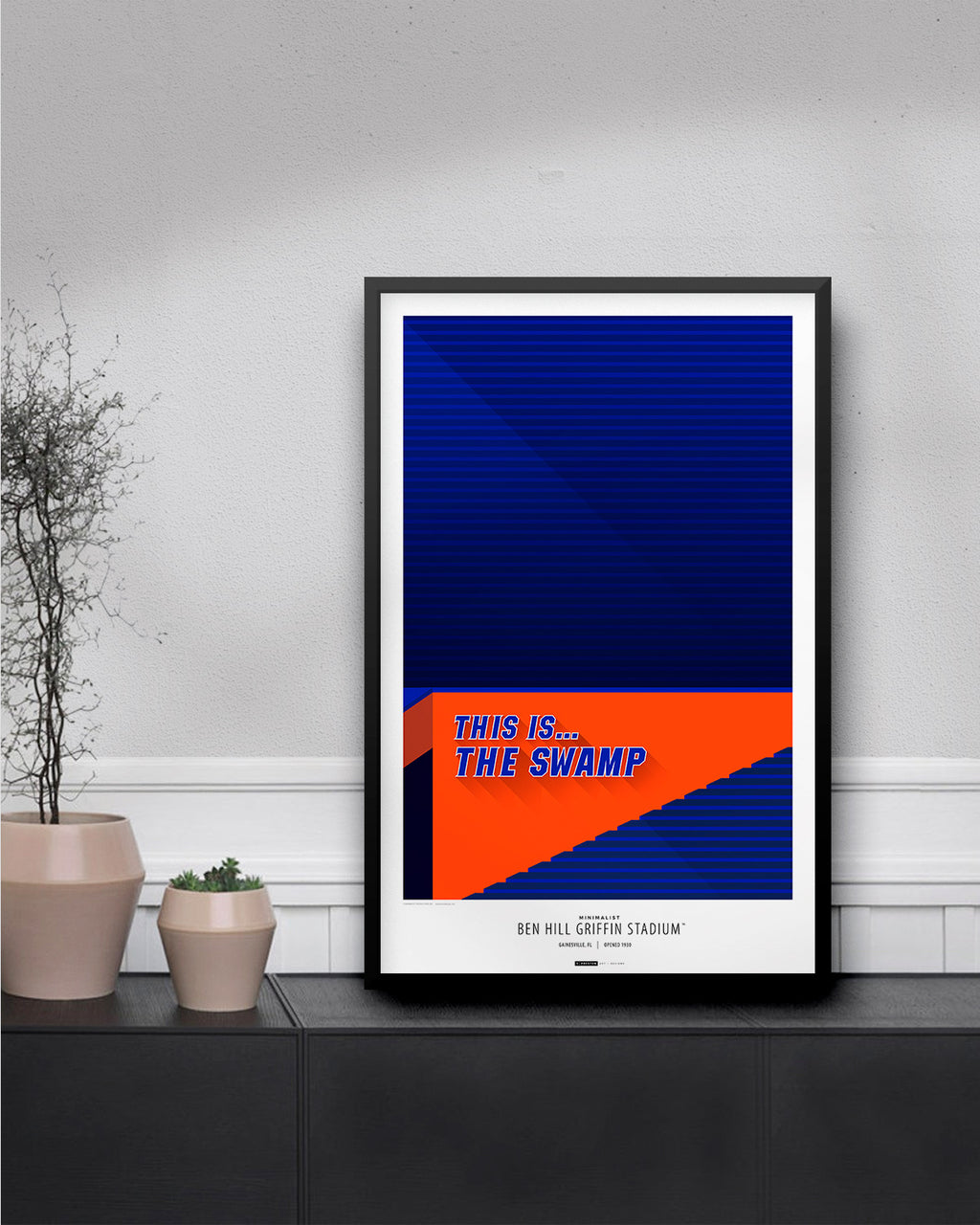 Minimalist Ben Hill Griffin Stadium Poster Print University of Florida - S Preston