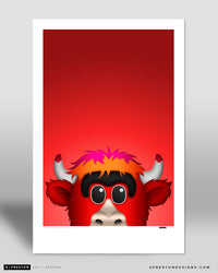 Minimalist Benny The Bull Poster Print Chicago Bulls - S Preston