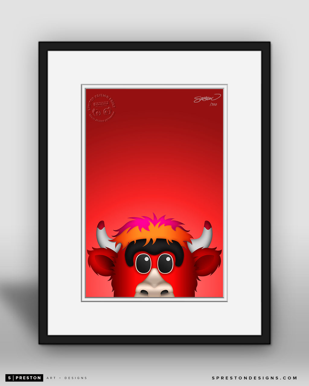 Minimalist Benny The Bull - Chicago Bulls - S. Preston