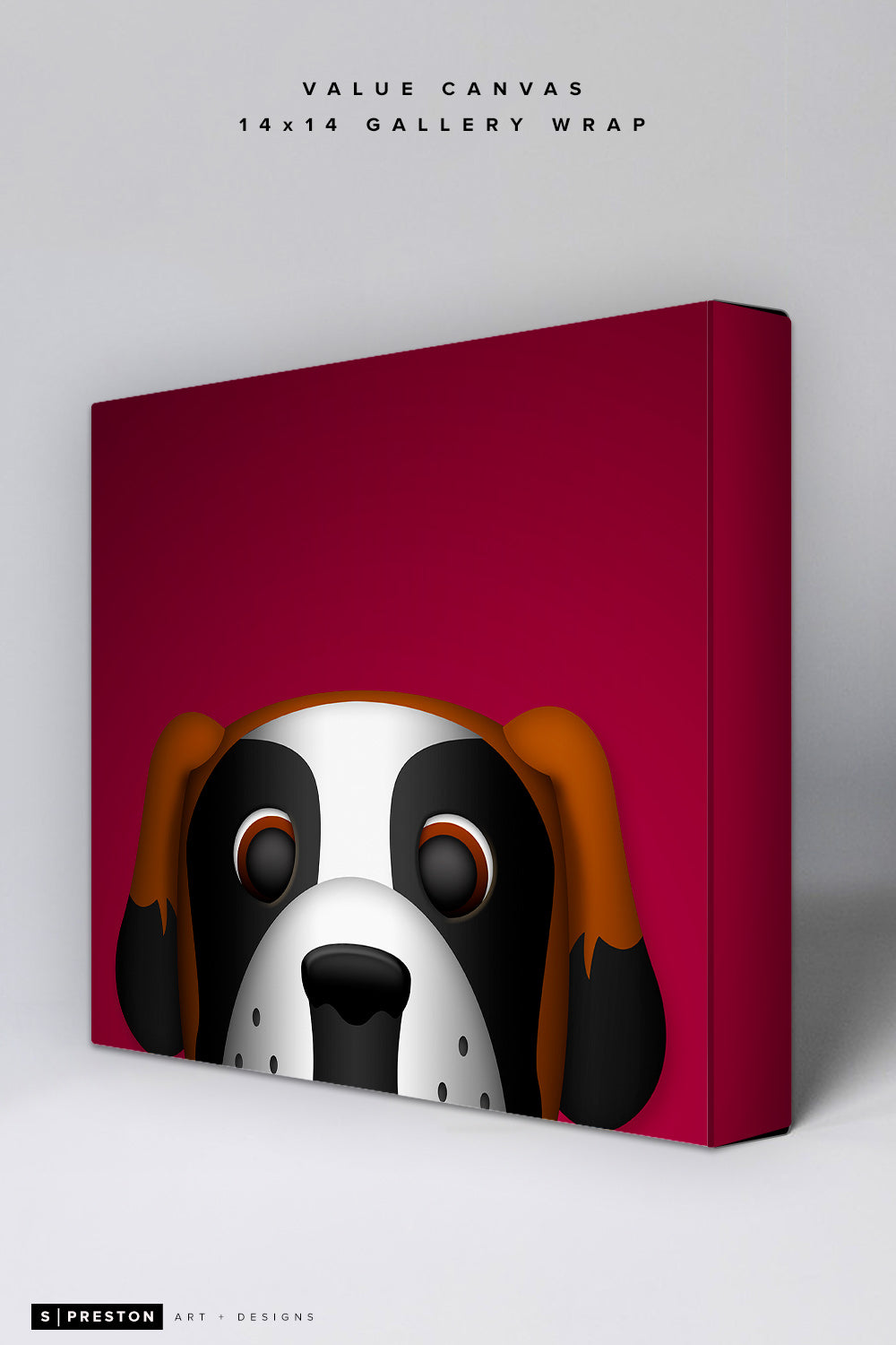 Minimalist Bernie the St. Bernard Value Canvas CLEARANCE