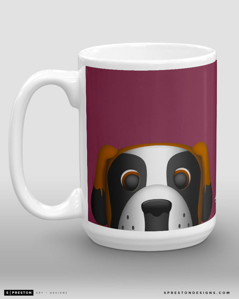Minimalist Bernie the St. Bernard Coffee Mug - NHL Licensed - Colorado Avalanche Mascot