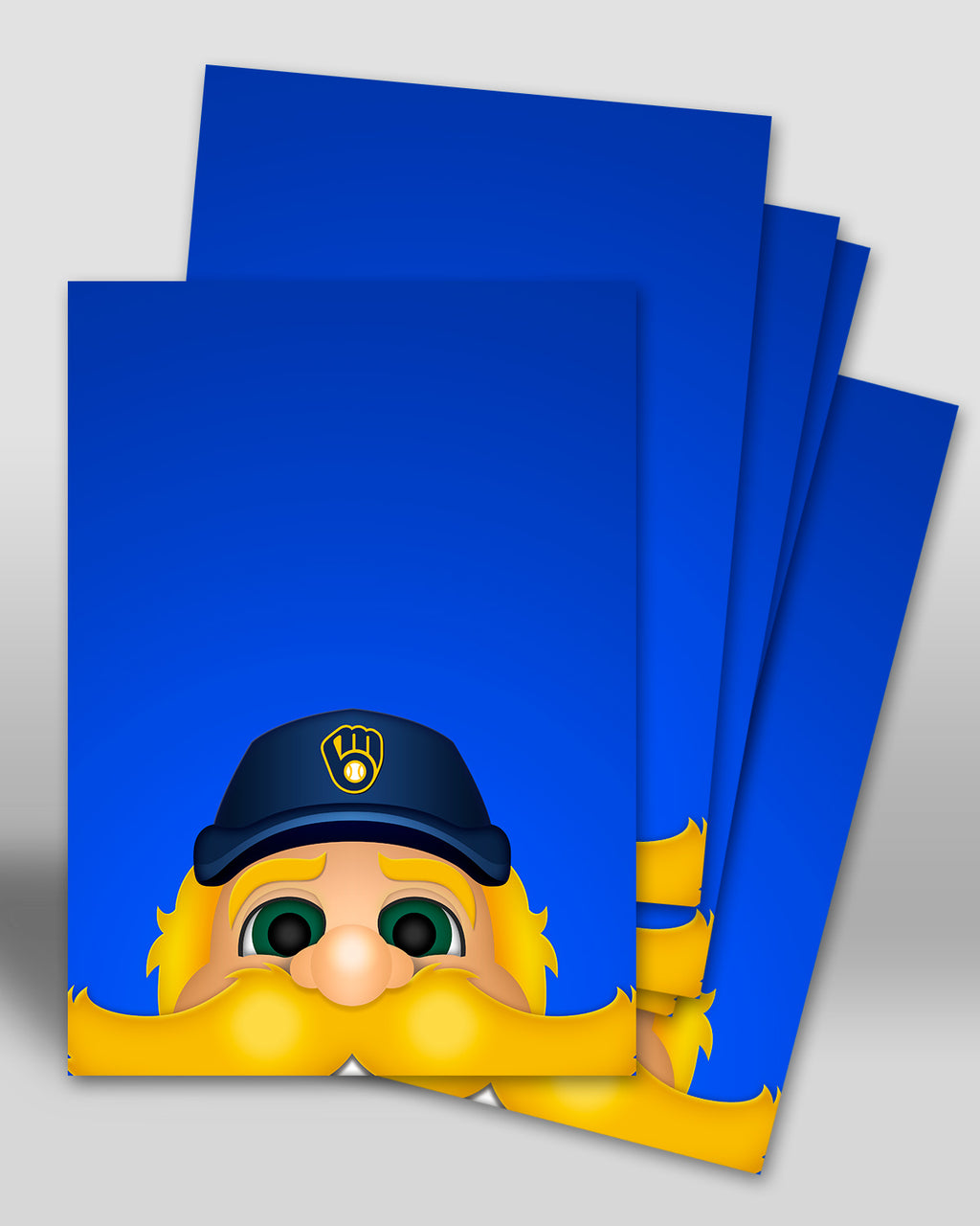 Minimalist Bernie Brewer Postcard Milwaukee Brewers Mascot