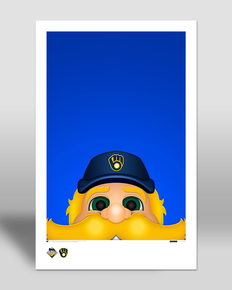 Minimalist Bernie Brewer Poster Print Milwaukee Brewers - S Preston