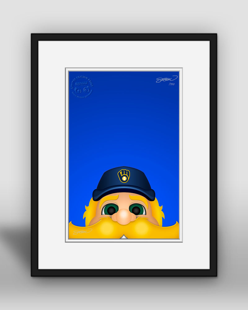 Minimalist Bernie Brewer Art Print - Milwaukee Brewers - S. Preston Art + Designs