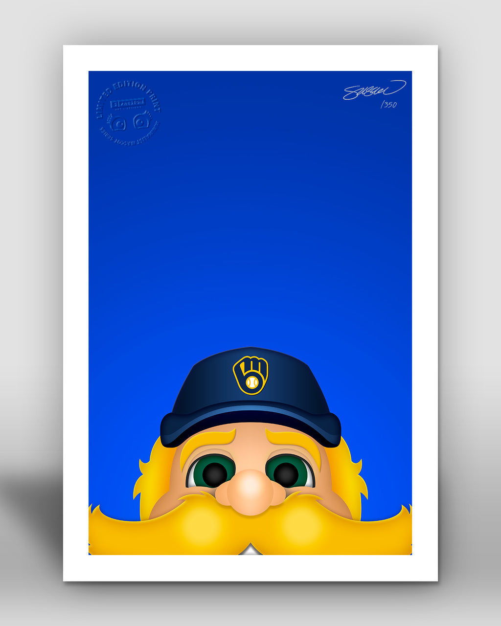 Minimalist Bernie Brewer - Milwaukee Brewers - S. Preston