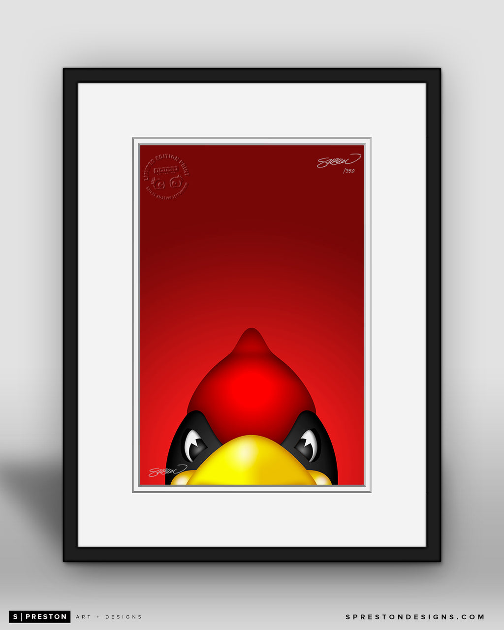 Minimalist Big Red - Arizona Cardinals - S. Preston