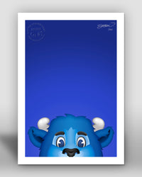 Minimalist Billy Buffalo Buffalo Bills Mascot - S. Preston