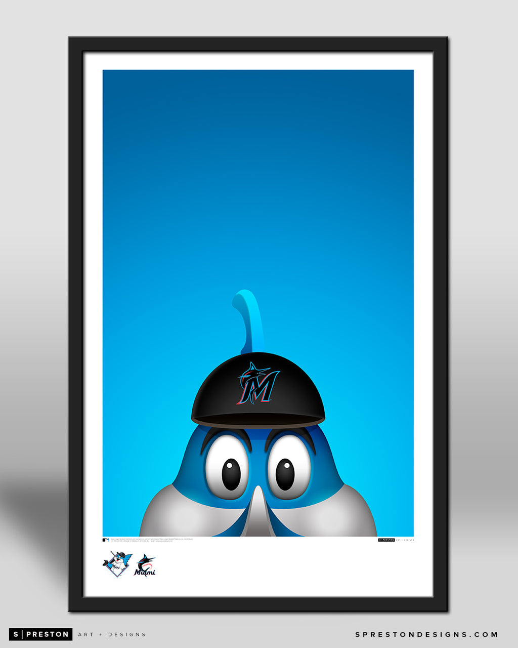 Minimalist Billy The Marlin Poster Print Miami Marlins - S Preston