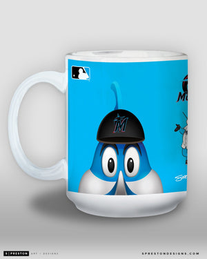 Minimalist Billy The Marlin Coffee Mug - MLB Licensed - Miami Marlins Mascot